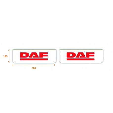 Faldilla delantera color blanco 600x180 logo DAF rojo