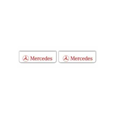 Faldilla delantera color blanco 600x180 logo MERCEDES rojo