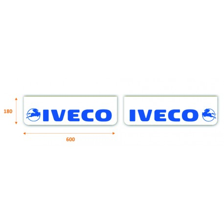 Faldilla delantera color blanco 600x180 IVECO azul