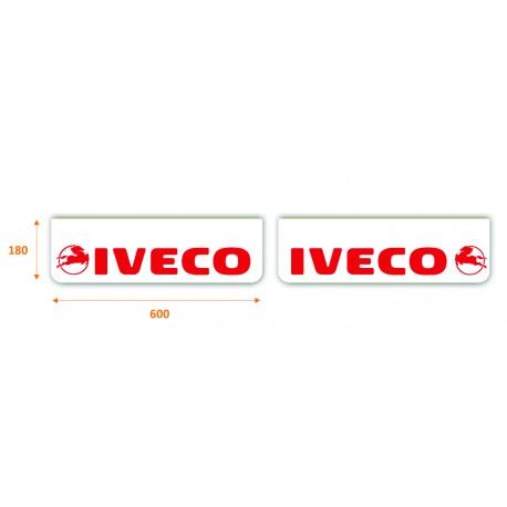 Faldilla delantera color blanco 600x180 IVECO rojo