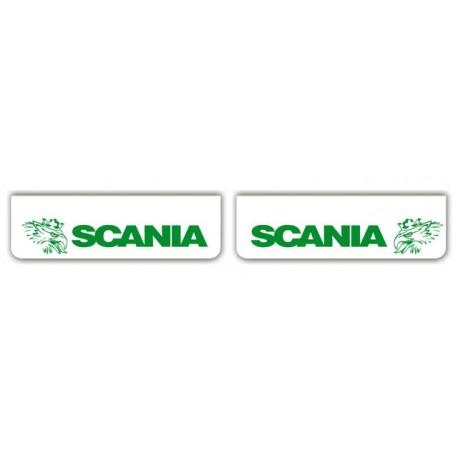 Faldilla delantera blanca 600x180 SCANIA verde