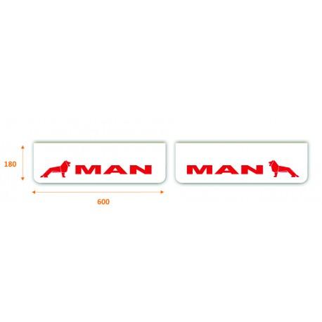 JUEGO de faldillas  delanteras blancas 600x180 MAN rojo