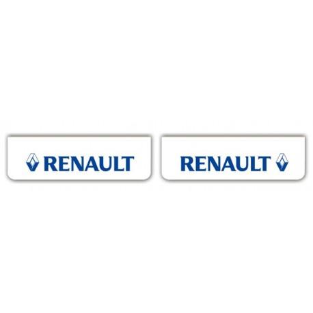 Faldilla delantera blanca 600x180 RENAULT azul