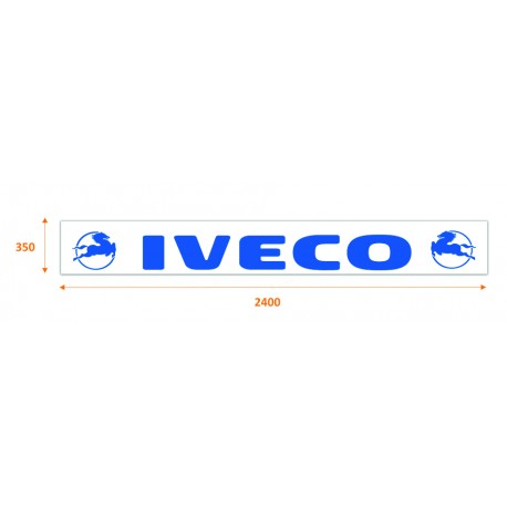 Faldilla trasera blanca 2400x350 logo IVECO azul