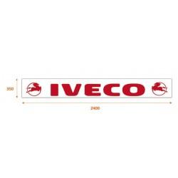 Faldilla trasera blanca 2400x350 logo IVECO rojo