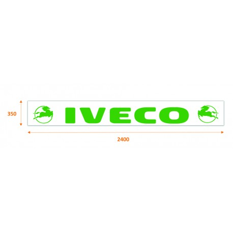 Faldilla trasera blanca 2400x350 logo IVECO verde