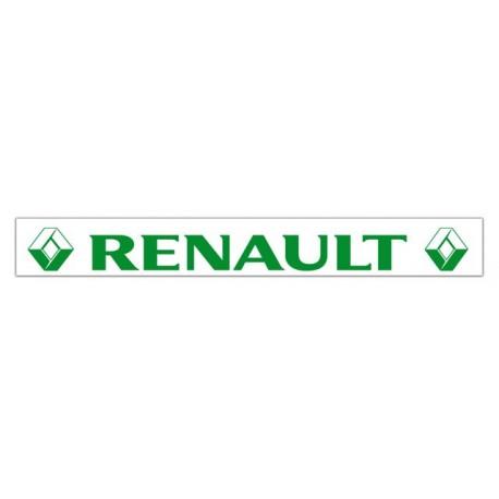 Faldilla trasera blanca 2400x350 logo RENAULT verde