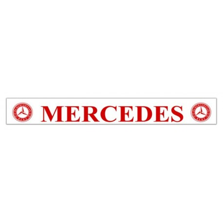 Faldilla trasera blanca 2400x350 logo MERCEDES rojo