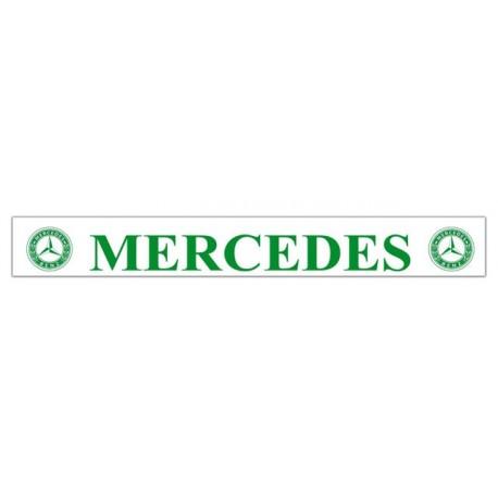 Faldilla trasera blanca 2400x350 logo MERCEDES verde