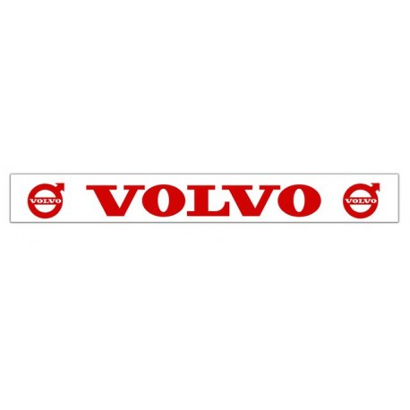 Faldilla trasera blanca 2400x350 logo VOLVO rojo