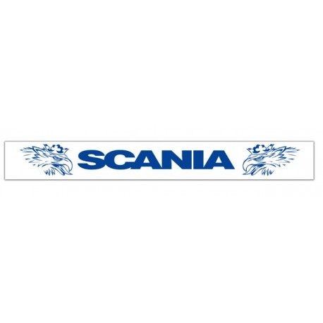 Faldilla trasera blanca 2400x350 logo SCANIA azul