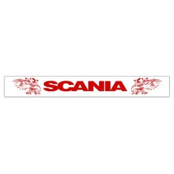 Faldilla trasera blanca 2400x350 logo SCANIA rojo