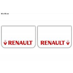 JUEGO de faldillas delanteras  blanco 600x400 RENAULT rojo
