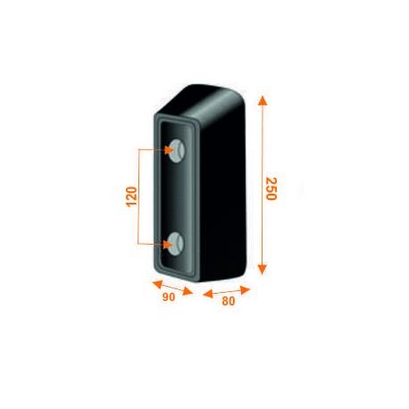 Tope trasero de 250 mm de alto KTT250