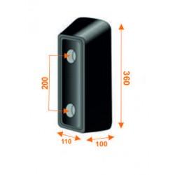 Tope trasero de 360 mm de alto KTT360
